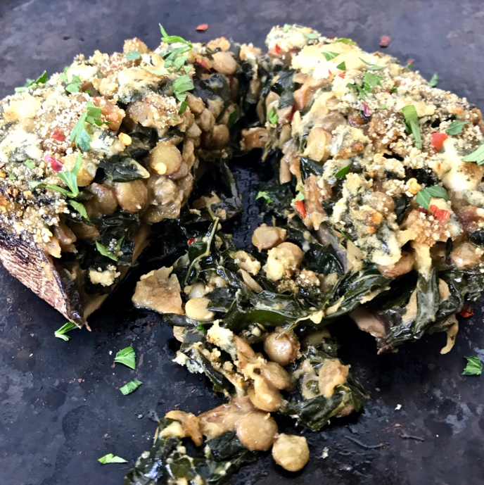 Who needs a steak dinner when you can make Creamed Kale, Lentil, and Caramelized Onion Stuffed Portobello Mushrooms with Blue Cheese and Breadcrumbs? Check out the recipe on the Superfood Daily blog!
