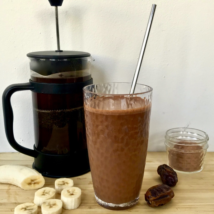 The Funky Monkey: Coffee, Cacao, Banana, Date and Peanut Butter Smoothie