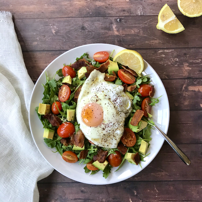 Bacon and Egg Breakfast Salad with Sumac Vinaigrette