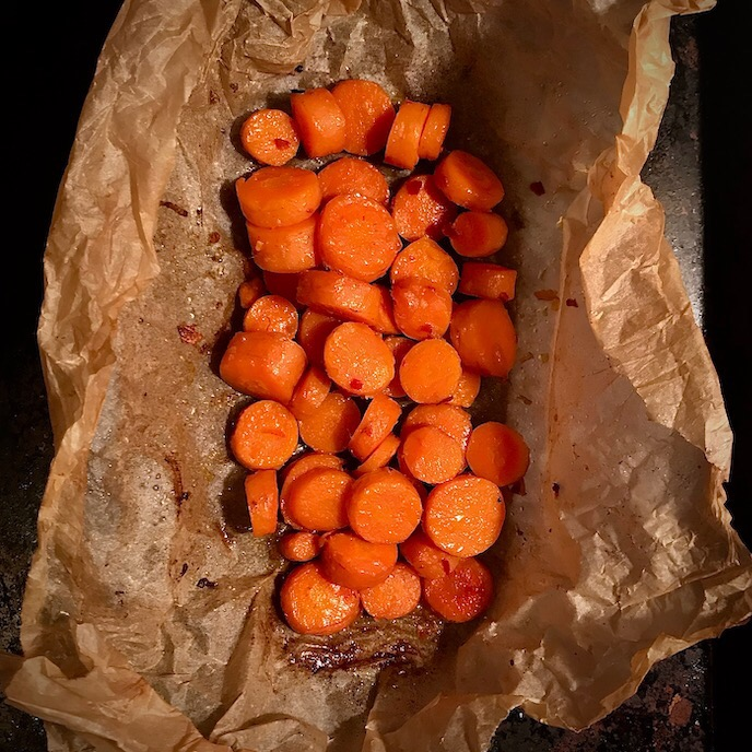 Honey-Hot Roasted Carrots