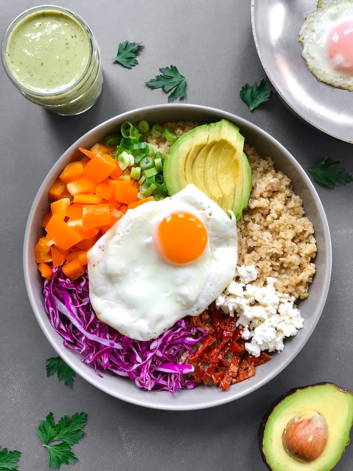 Rainbow Bowl with Green Tahini Sauce