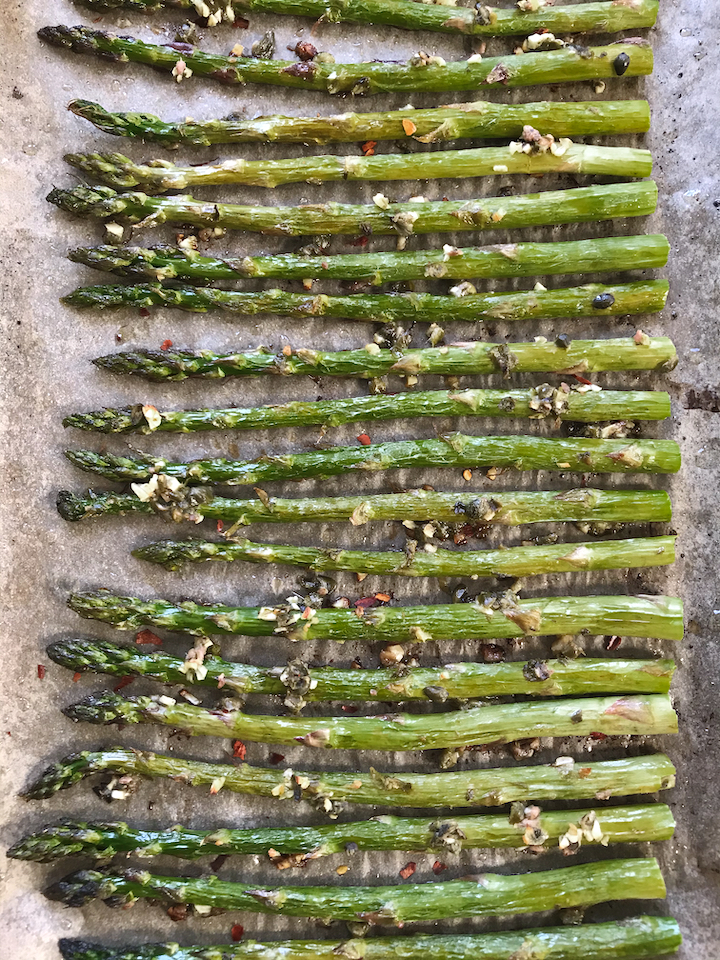 Roasted Asparagus with Capers and Anchovy
