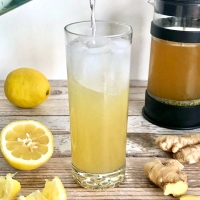Sparkling Lemon-Ginger Yerba Mate