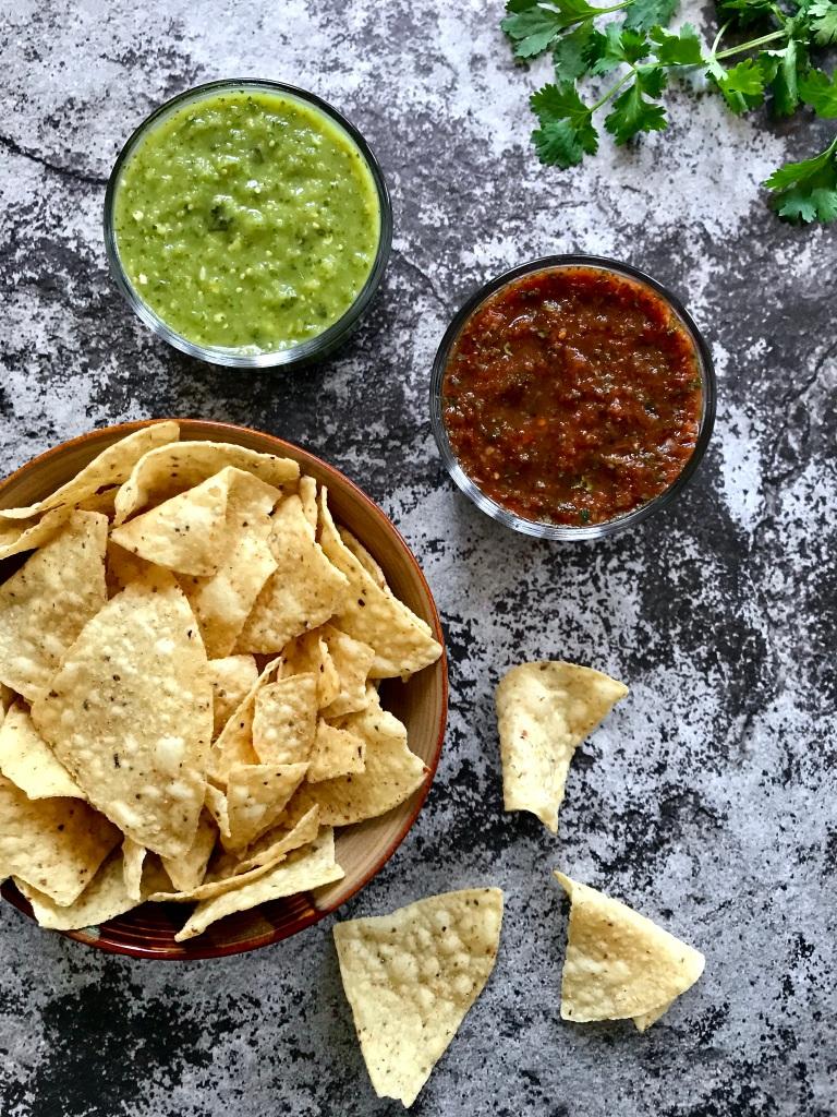 Homemade Salsa Two Ways: Salsa Verde Crudo and Salsa Roja