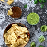 Homemade Salsa Two Ways: Salsa Verde Crudo and Salsa Roja